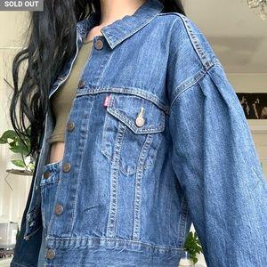 Levi's Trucker Jacket Pleated Sleeve Princess Di